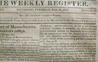 old newspaper clipping 1813