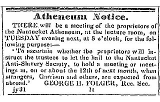 newspaper article abolitionist meeting