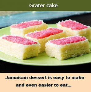 picture of a Grater cake, a Jamaican dessert