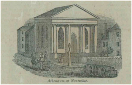 Nantucket Atheneum when it was built in 1834