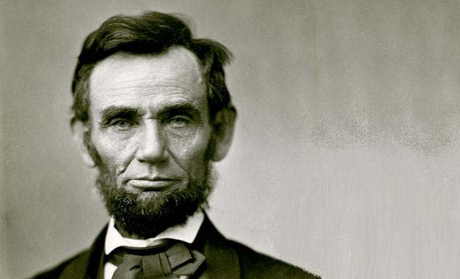 Portrait photo of Abraham Lincoln