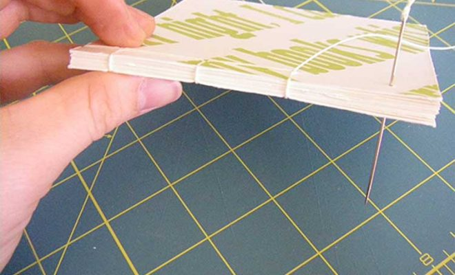 Book binding by hand