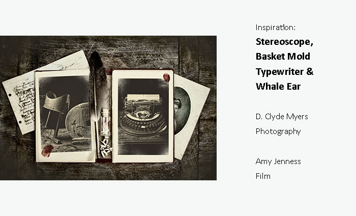 Prints of Stereoscope, Basket Mold, Typewriter & Whale Ear